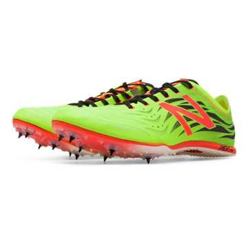 New Balance MD800v4 Spike, Toxic with Black & Flame