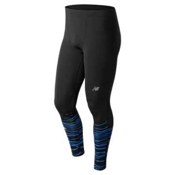 New Balance Printed Impact Tight, Black Print