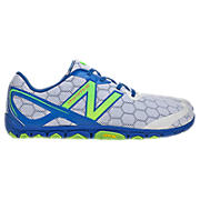 Minimus 10v2, White with Neon Green & Blue