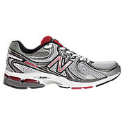 New Balance 860, Silver with Red
