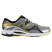 New Balance 870, White with Lime Green