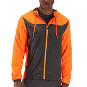 Sequence Hooded Jacket, Orange Flash with Magnet