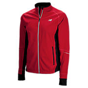 Windblocker Jacket, Tango Red with Black