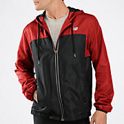 Sequence Hooded Jacket, Tango Red with Black