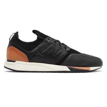 New Balance 247 Luxe, Black with Brown