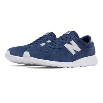 New Balance 420 Re-Engineered Suede, Blue with White