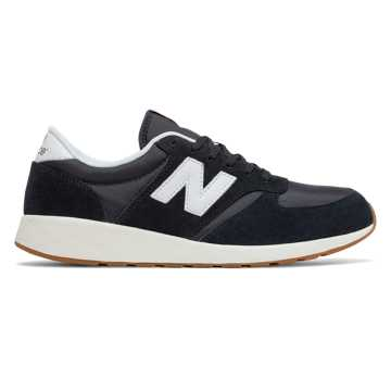 New Balance 420 Re-Engineered, Black with White