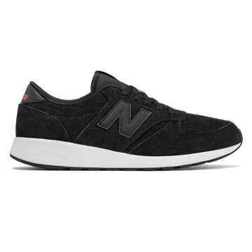 New Balance 420 Re-Engineered, Black with Orange