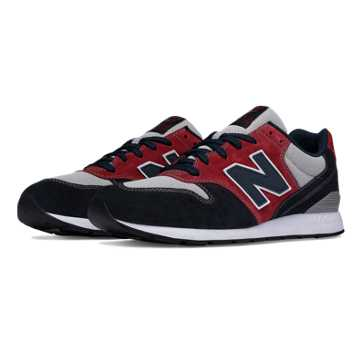 New Balance 696 Seaside Hideaway, Navy with Burgundy & Light Grey