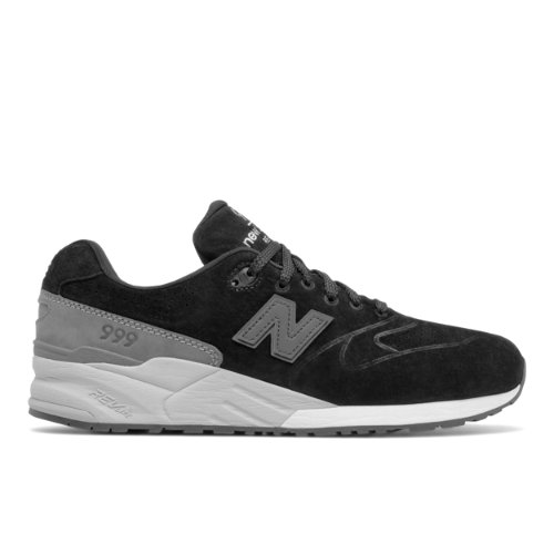 New Balance 999 Re-Engineered Suede Chaussures - Black/Grey (Taille EU 40.5 / UK 7)