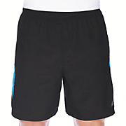 7 inch Tempo Short, Black with Kinetic Blue