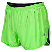Impact 3 inch Split Short, Green with Medieval Blue