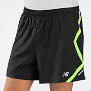 5 inch Track Short, Black with Yellow