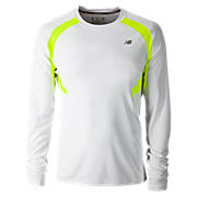 NP Long Sleeve Top, White with Hi-Viz Yellow
