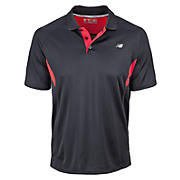 Men's Running Top, Black with Chinese Red