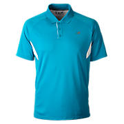 Men's Running Top, Kinetic Blue with White