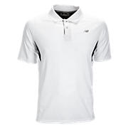 Men's Running Top, White with Black