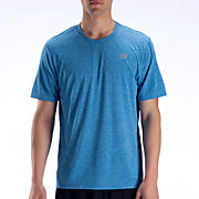 Heathered Short Sleeve, Electric Blue