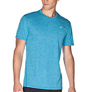 Heathered Short Sleeve, Kinetic Blue