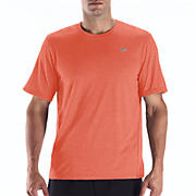 Heathered Short Sleeve, Orange Flash