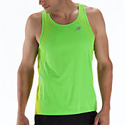 Impact Singlet, Lime Punch with Jazz Green