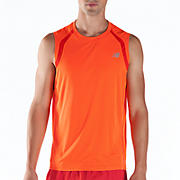 Impact Sleeveless, Orange Flash with Fiery Red