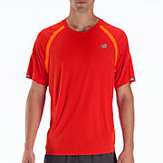 Impact Short Sleeve, Orange Flash with Fiery Red