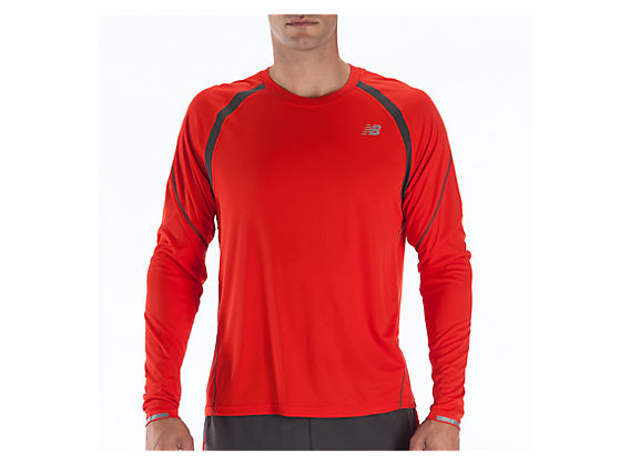 Impact Long Sleeve, Fiery Red with Magnet