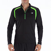 Impact 1/2 Zip, Black with Jazz Green
