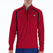 Impact 1/2 Zip, Tango Red with Black