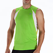Momentum Sleeveless, Jazz Green with Lime Punch & White