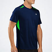 Momentum Short Sleeve, Medieval Blue with Green Gecko