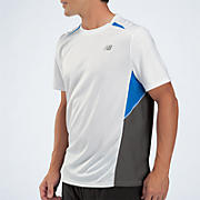 Momentum Short Sleeve, White with Magnet & Blue