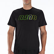 Momentum Short Sleeve Graphic, Black