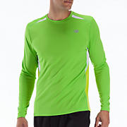 Momentum Long Sleeve, Jazz Green with Lime Punch & White