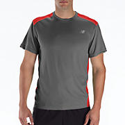Go 2 Short Sleeve, Grey with Fiery Red
