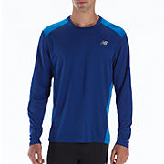 Go 2 Long Sleeve, Sodalite with Electric Blue