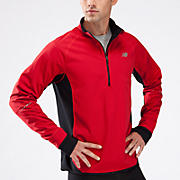 Windblocker 1/2 Zip, Tango Red with Black