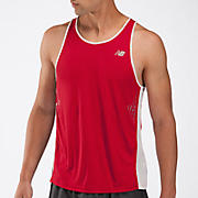 Impact Singlet, Tango Red with Black & White