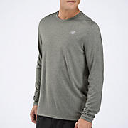 Heathered Long Sleeve, Athletic Grey
