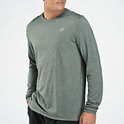 Heathered Long Sleeve, Black