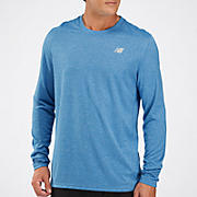 Heathered Long Sleeve, Vision Blue