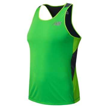 New Balance Excel Race Day Singlet, Acidic Green with Chemical Green & Lead