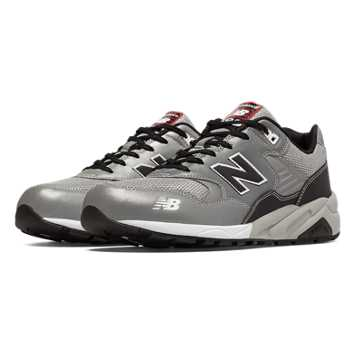 New Balance 580 Elite Edition Pinball, Silver with Black