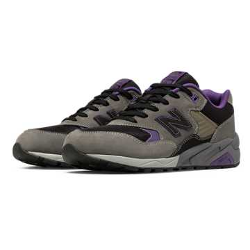 New Balance 580 Wild Survivor Collection, Grey with Black & Purple