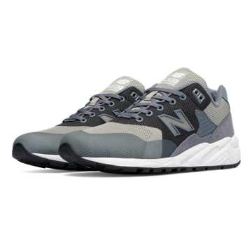 New Balance 580 Re-Engineered Woven, Grey with White