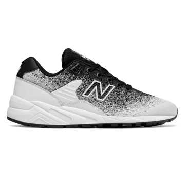 New Balance 580 Re-Engineered Jacquard, Black with White