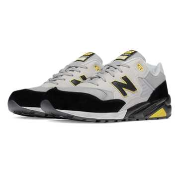 New Balance 580 Elite Edition Lost Classics, Light Grey with Black & Yellow