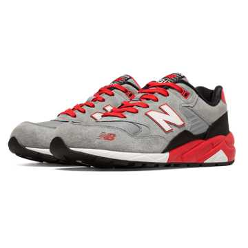New Balance 580 Elite Mecha, Grey with Red & Black