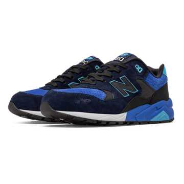 New Balance 580 Sound and Stage, Black with Blue
